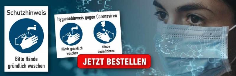 Hinweisschilder Coronavirus
